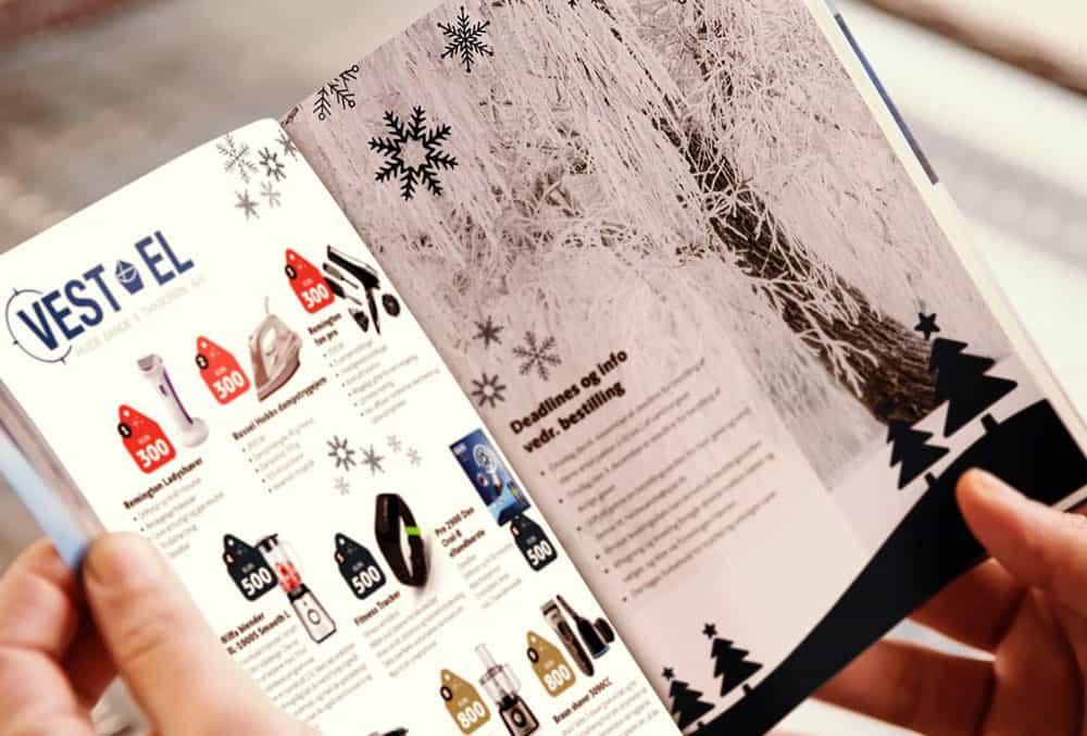 julegave hæfte grafisk design