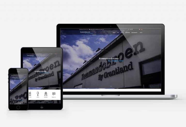 kommandobroen cms hjemmeside
