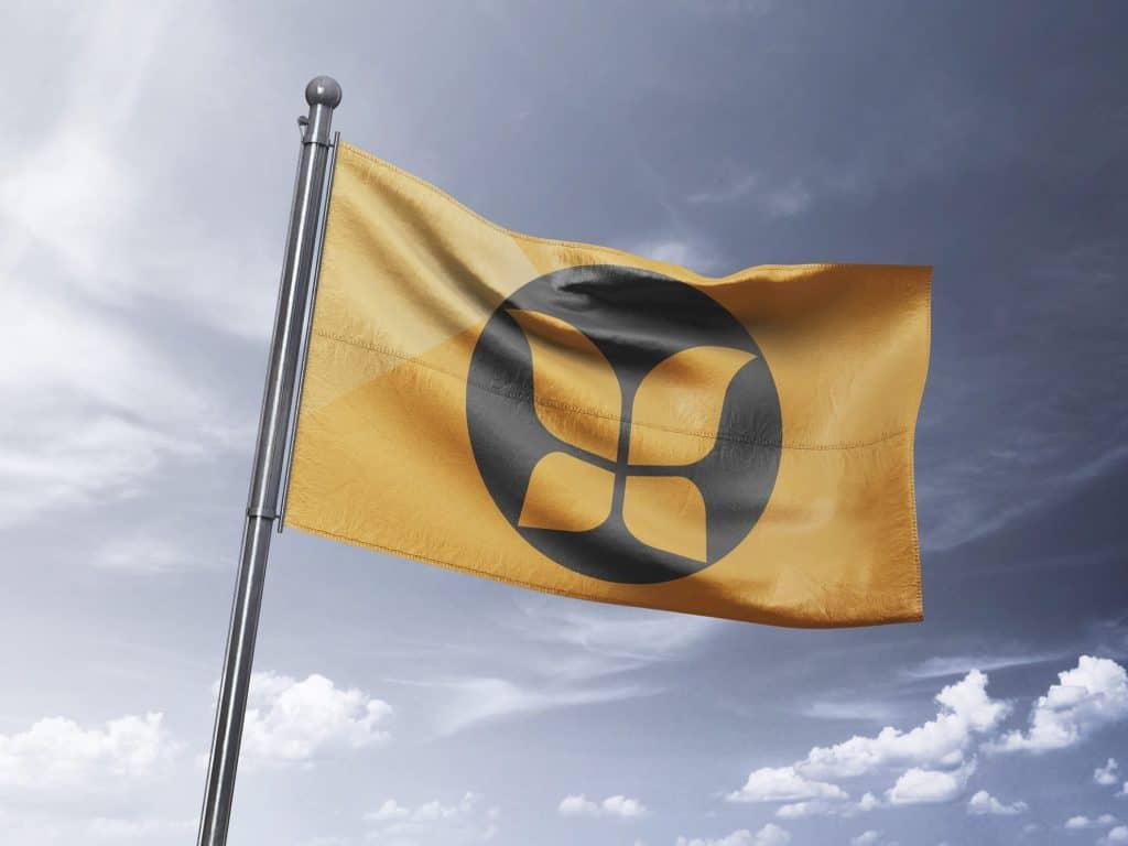 Flag med logo print