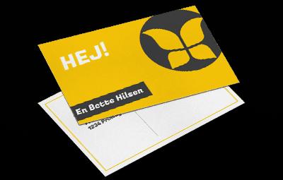 printede-postkort